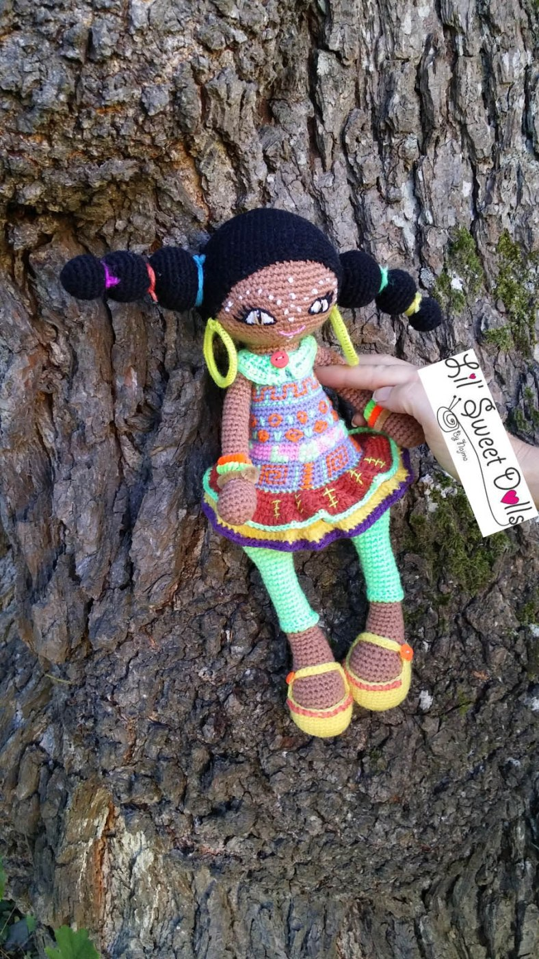 muñeca africana african doll crochet muñeca negrita ganchillo najma crochet  amigurumi12
