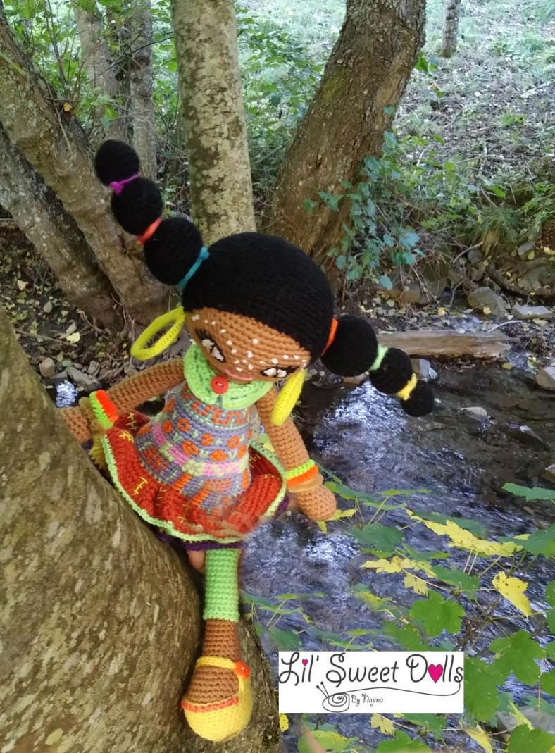 muñeca africana african doll crochet muñeca negrita ganchillo najma crochet  amigurumi16