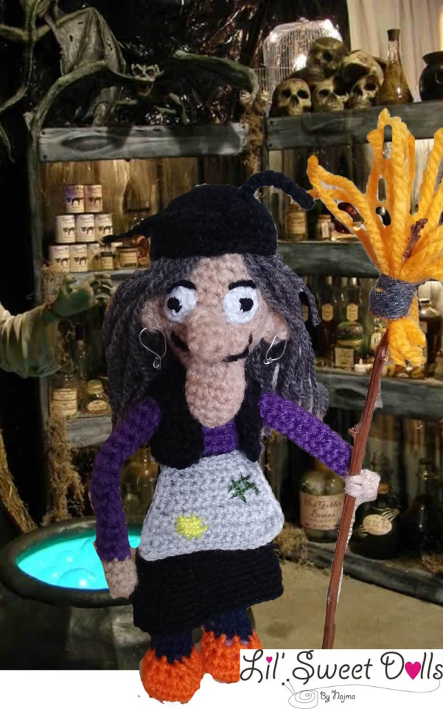 bruja witch halloween doll najma crochet  amigurumi01