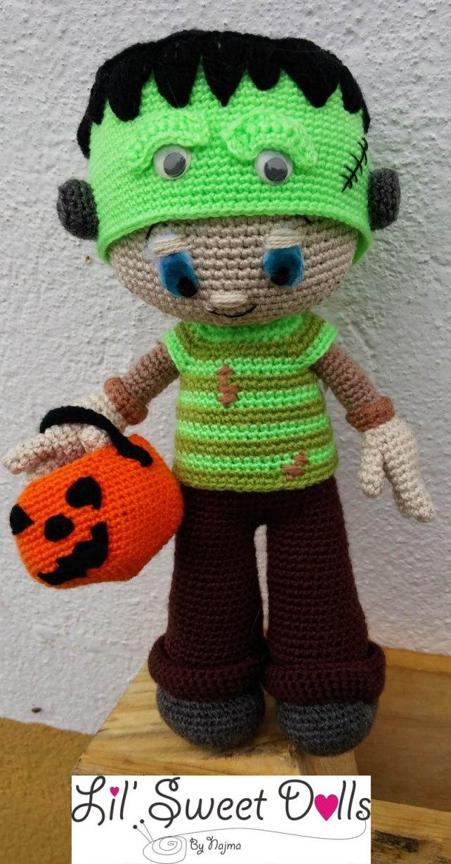 Frankenstein toy doll najma crochet amigurumi01