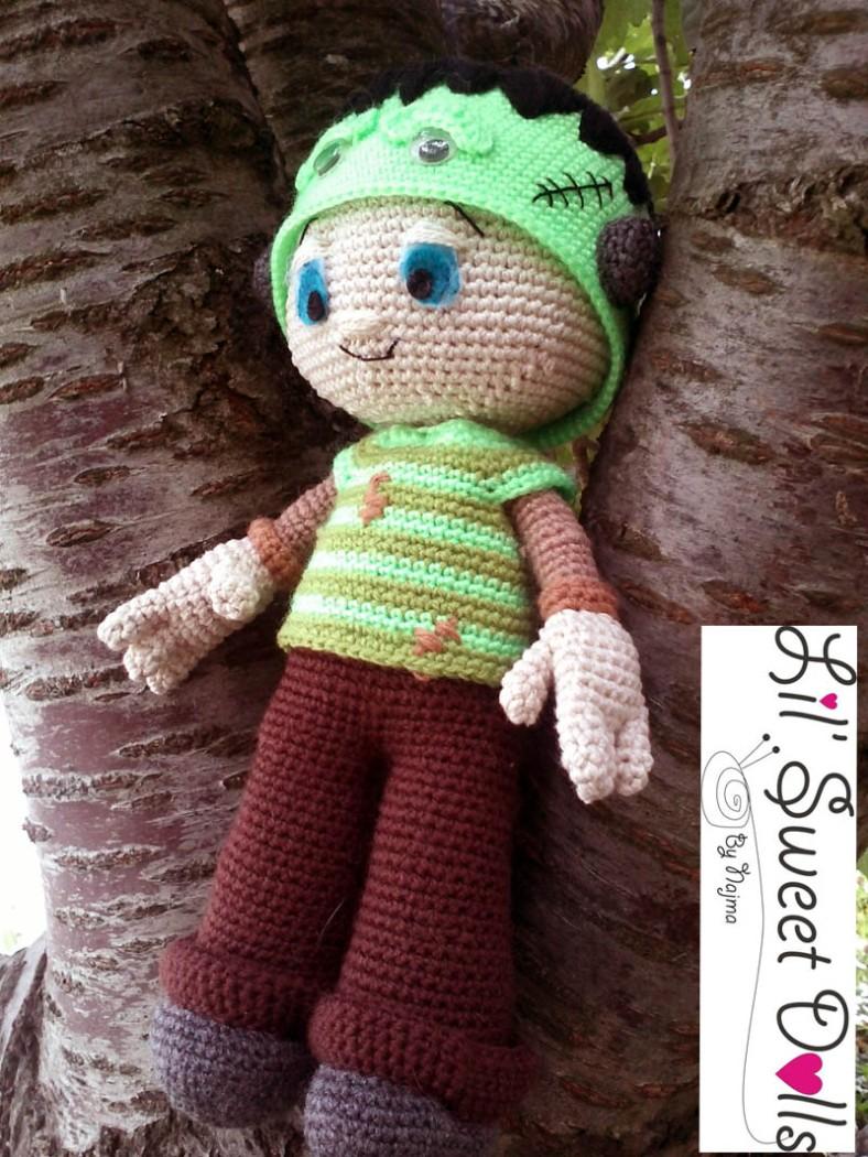 Frankenstein toy doll najma crochet amigurumi05