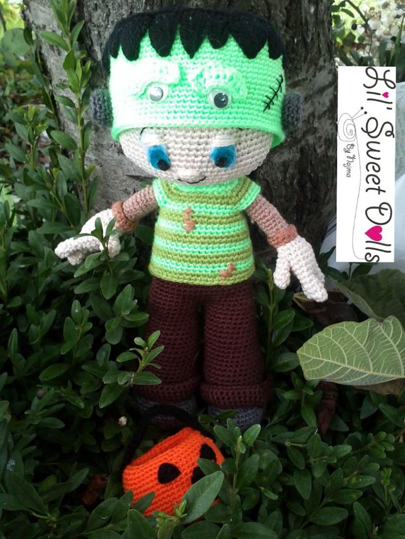 Frankenstein toy doll najma crochet amigurumi06