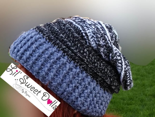 crochet slouch hat gorro ganchillo