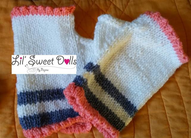 guantes gloves fingerless mittens knit crochet  amigurumi02