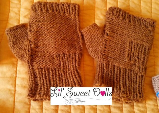 guantes gloves fingerless mittens knit crochet  amigurumi03