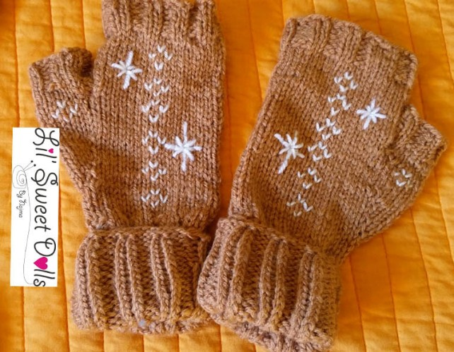 guantes gloves fingerless mittens knit crochet  amigurumi04