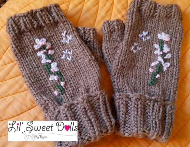 guantes gloves fingerless mittens knit crochet  amigurumi06