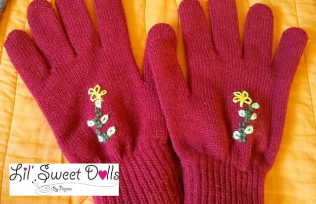 guantes gloves fingerless mittens knit crochet  amigurumi08