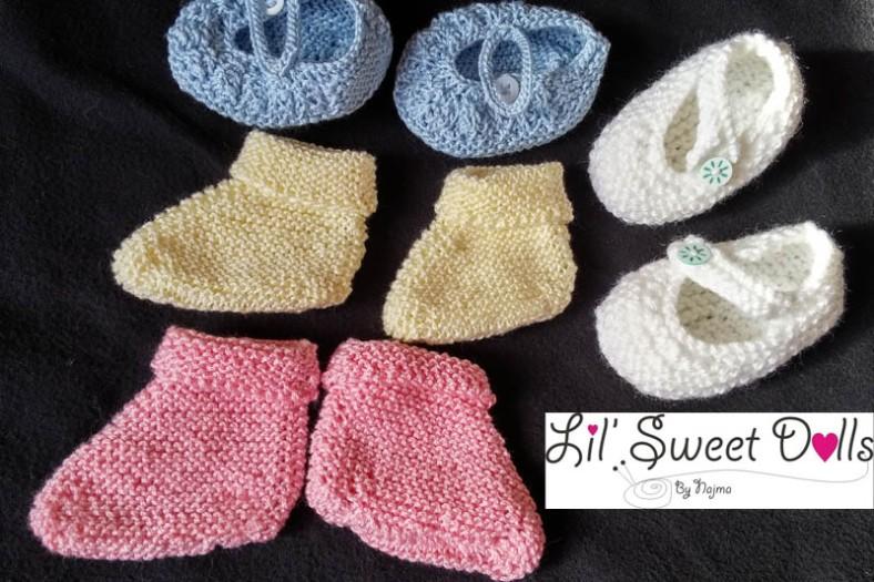 patucos tejidos knit booties