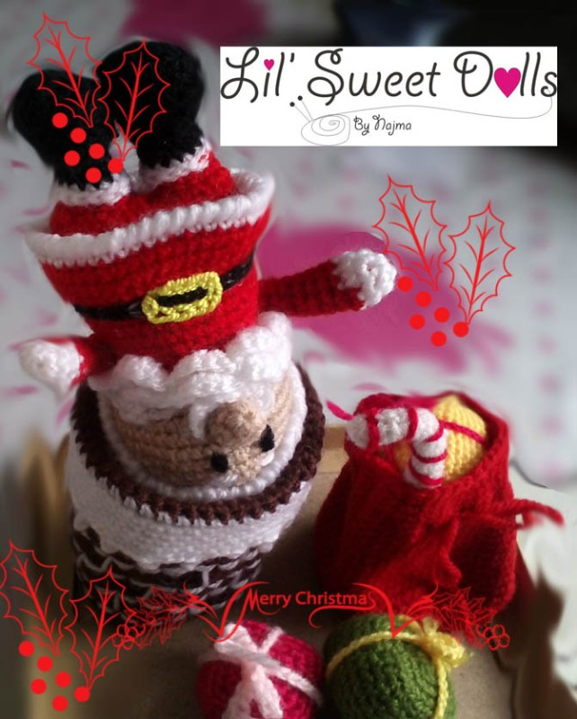 santa christmas gnome papa noel ganchillo crochet amigurumi01