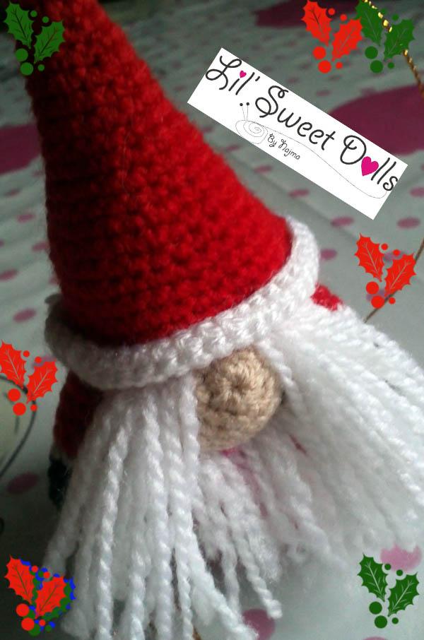 santa christmas gnome papa noel ganchillo crochet  amigurumi07