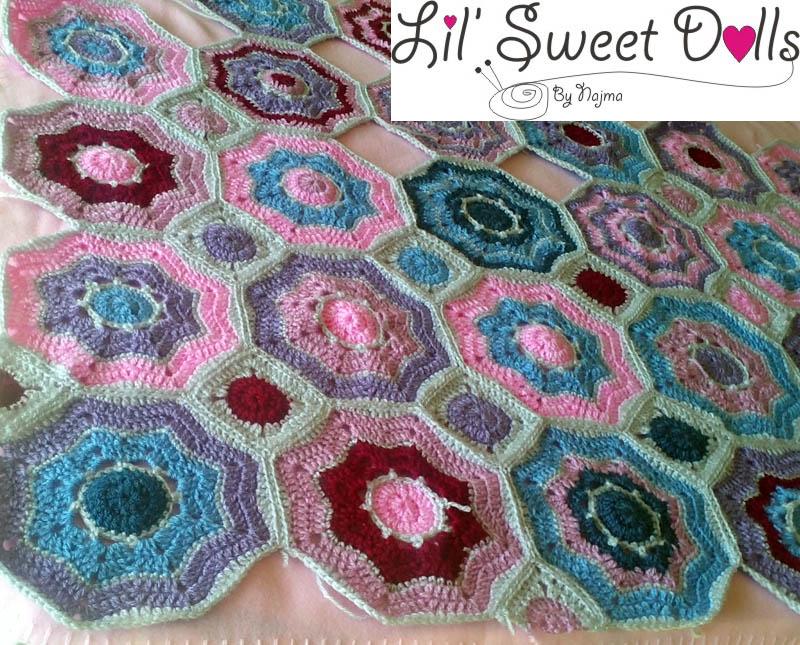 hexagon blanket crochet ganchillo manta hexágonos