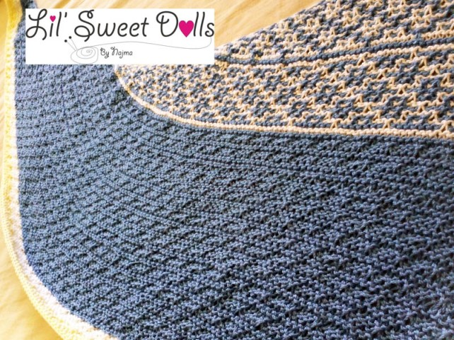 knitted shawl craft handmade