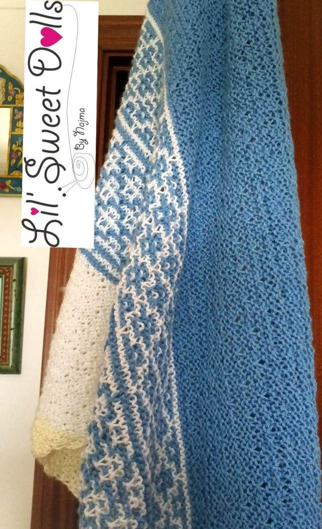 handmade knit shawl