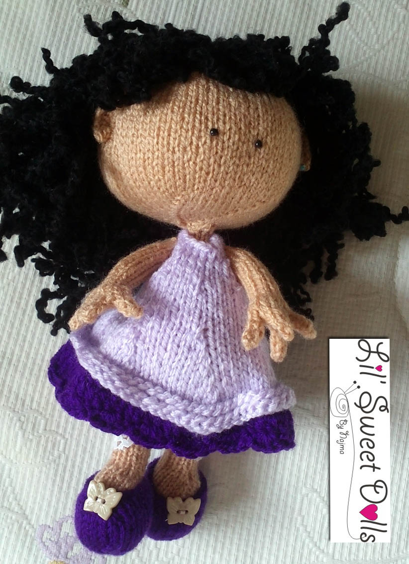 knitted doll muñeca tejida toy calceta tejer