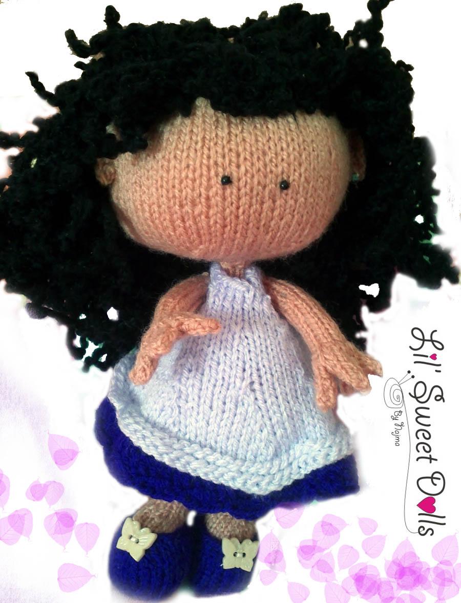 knitted doll muñeca tejida toy calceta tejido