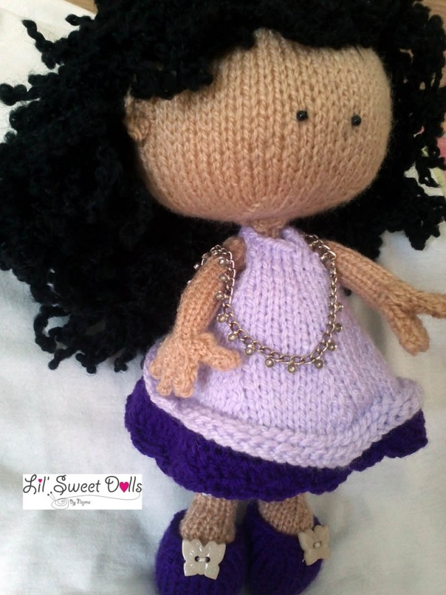 knitted doll muñeca tejida toy calceta tricot