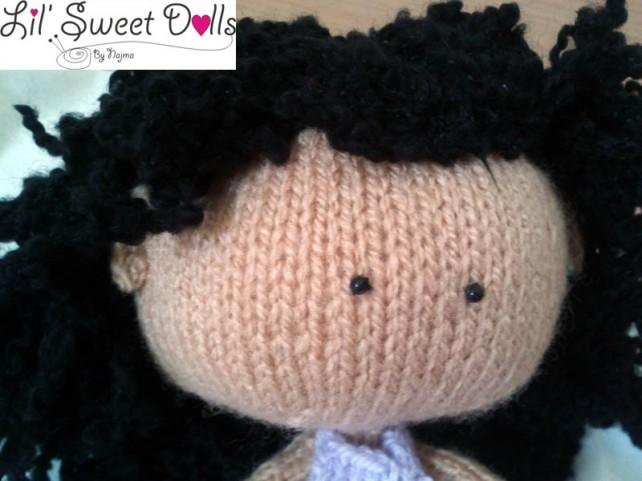 toy tricot knitted doll muñeca tejida