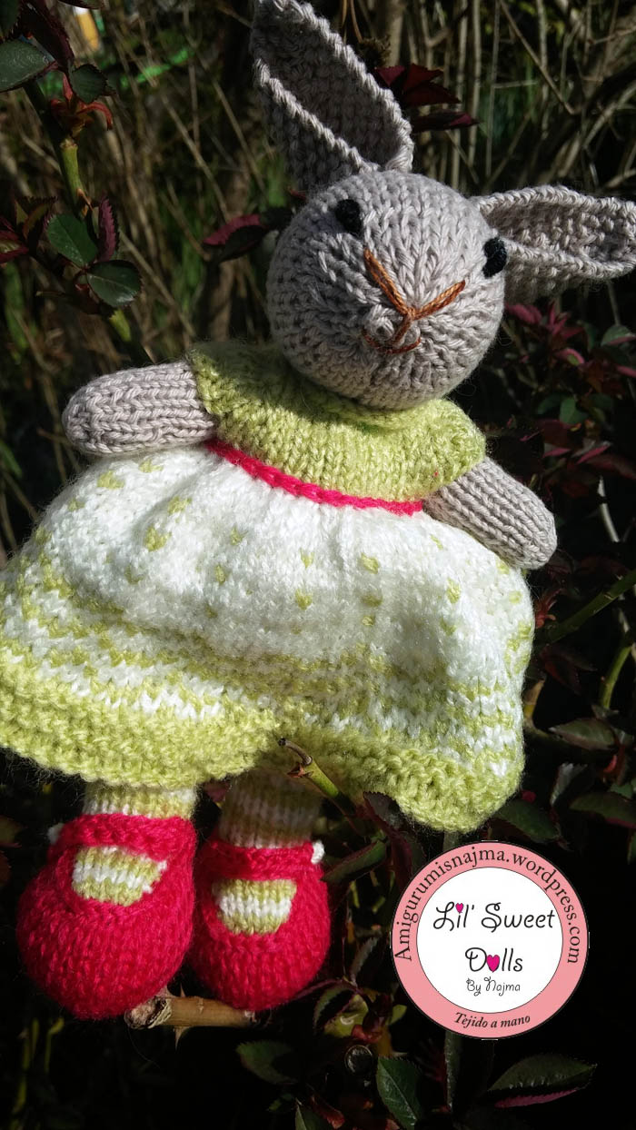 toy gift cute lovely knitted doll toy muñeca tejer weamigurumi