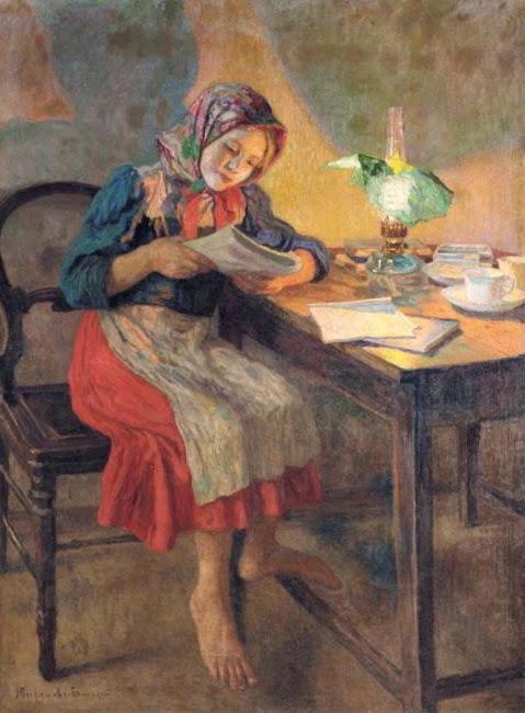 belski-reading-by-the-lamp-schoolgirl