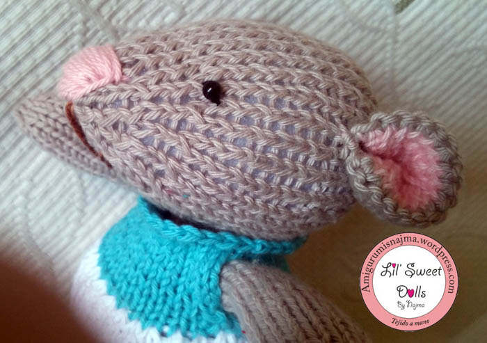 cute doll toy muñeca knitted mouse gift toy weamigurumi
